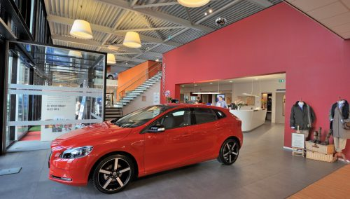 Entwurf Einrichtung Schauraum Volvo Broekhuis Autogruppe