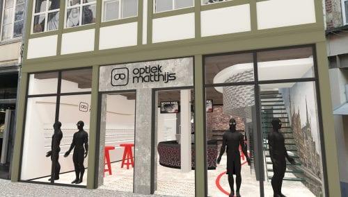Entwurf einrichtung Matthijs Optik in Gent (BE) von WSB Ladenbau Optik