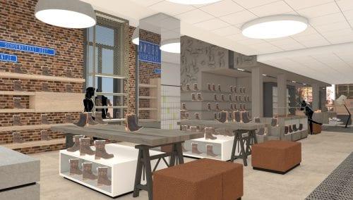 Konzept Entwurf Einrichtung Bronkhorst Schuhe Podo Linea: WSB Ladenbau