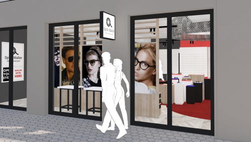 Waller Optik – Hofheim (DE): Ladeneinrichtung Augenoptik