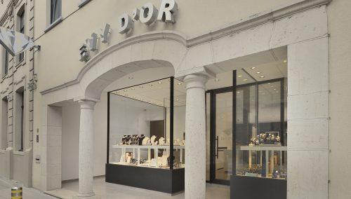 Juwelen Evy d'Or in Ingelmunster (BE) – Neugestaltung Schmuckladen