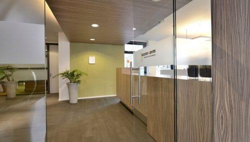 Interior Empfangsraum Wirtschaftsprüfungsgesellschaft Accon AVM / Roza