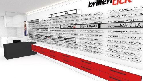 In kurzem: Ladeneinrichtung Augenoptiker Brillentick in Berlin