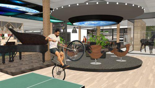 3D-Design für die moderne Büroeinrichtung